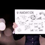 Illustration pancarte innovation